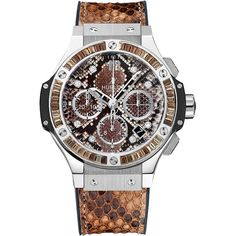 Hublot Big Bang Boa Bang 41mm 341.sx.7917.pr.1979 Watch ($21,600) ❤ liked on Polyvore featuring jewelry, watches, stainless steel, stainless steel watches, hublot, stainless steel jewelry, hublot watches and stainless steel wrist watch
