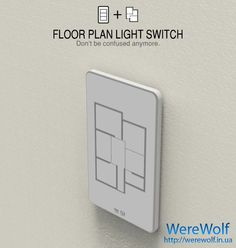 Must have! Floor plan light switch, touch a room and lights go off..
