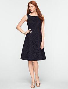 Corded Black Dress @ Talbots in Petites