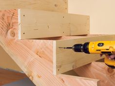 to Build Simple Stairs HOW TO INSTALL BASEMENT STAIRS - Learn how to fix creaky steps, fix a baluster and what to look for when inspecting a staircase for problems.Build Build may refer to: Stair Makeover, Basement Makeover, Basement Renovations, Home Remodeling, Basement Decorating, Decorating Ideas, Wooden Staircases, Wooden Stairs, Basement Steps