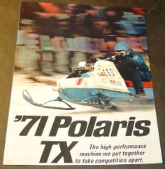 1971 POLARIS TX RACER SNOWMOBILE SALES BROCHURE 4 PAGES VERY NICE++