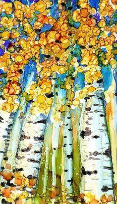 """Birch Series 3"" - Original Fine Art for Sale - © Kristen Dukat"