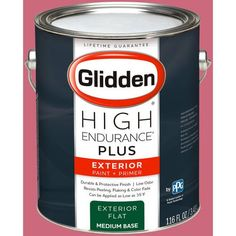 Glidden High Endurance Plus Exterior Paint and Primer, Watermelon Smoothie, #74RR 28/432