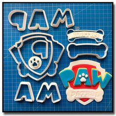 Emporte-Pièce 3D Pat Patrouille Logo 101 - Emporte-pièce en Kit Parfait pour le cake design et la pâtisserie créative.