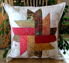 Modern Cushion Covers, Modern Cushions, Handmade Pillow Covers, Decorative Pillow Covers, Quilt Design, Quilting Designs, Batik Prints, Quilted Pillow, Applique Quilts