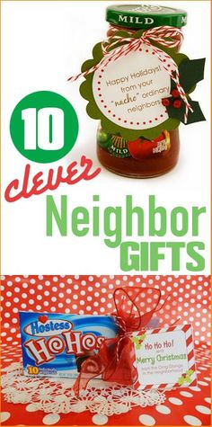 10 Clever Neighbor Gifts.  Punny gifts your neighbors are sure to love.  Quick and easy Christmas gifts that won't break the bank.