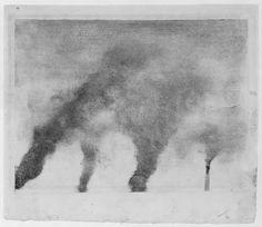 Edgar Degas - Factory Smoke