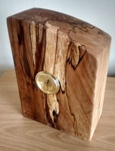 Check out this item in my Etsy shop https://www.etsy.com/uk/listing/254121248/spalted-beech-mantle-clock