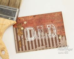 A Father's Day card tutorial using, the Ooh La Limited papers, in the Chocolate Chilli colour especially for the special Dad in your life. Scrapbook Paper, Scrapbooking, Pattern Paper, Fathers Day, Embellishments, Invitations, Colour, Templates, Chocolate