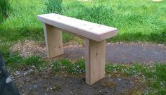 Local redwood Garden Bench