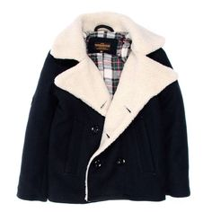 Caban bleu marine / navy flanel peacoat (American Outfitters)