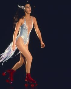 Cher rollerskating in very skimpy outfit 8x10 Photo | eBay