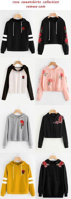 rose sweatshirts collection - romwe.com