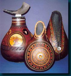 Native American Art ~ John Gibson Gourds