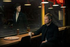 "--Benedict Cumberbatch and Martin Freeman in ""Sherlock"" Season 3"