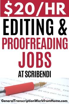 Scribendi has academic, book, ESL and business editing and proofreading jobs. Get remote editing and proofreading jobs from home as remote freelance proofreader. Read my review. #proofreadingjobs #proofreading #proofreadingjobsfromhome