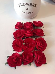 12 Rosen Blüte Hochzeit Deko Blume Rose Tisch Dekoration Basteln Kunstrose Neu | eBay