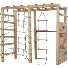 Portique d'escalade Swing King 'Bokito' bois 240 x 120 cm Backyard Jungle Gym, Backyard For Kids, Backyard Projects, Kids Outdoor Playground, Backyard Obstacle Course, Play Houses, Play Gym, Ninja Warrior, Playgrounds
