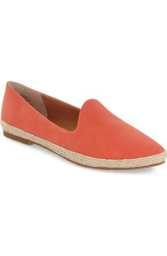 Crushing on this versatile espadrille flat in a pop of color that is comfy and cute for spring.