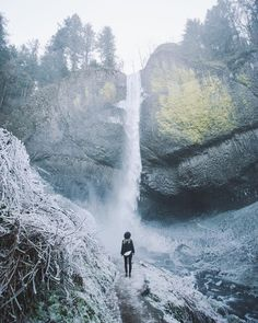 Latourell Falls is a higher fall which you will have to hike to.