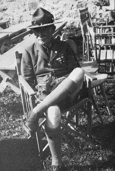 Robert Stephenson Smyth Baden-Powell, 1st Baron Baden-Powell, OM, GCMG, GCVO, KCB (/ˈbeɪdən ˈpoʊ.əl/; 22 February 1857 – 8 January 1941), also known as B-P or Lord Baden-Powell, was a lieutenant-general in the British Army, writer, founder of the Scout Movement and first Chief Scout of The Boy Scouts Association. - Wikipedia