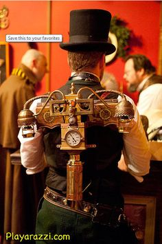 What is Steampunk? Steampunk simply embodies a time and a place. a steam powered world, where air travel by fantastical airships and submarines is as co Chat Steampunk, Design Steampunk, Costume Steampunk, Steampunk Weapons, Style Steampunk, Steampunk Gadgets, Steampunk Wedding, Victorian Steampunk, Gothic Steampunk