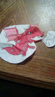 This is the dragon I made peace, love, and unicorns