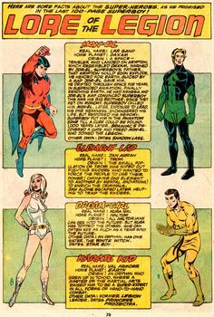 Lore of the Legion (1 of 3)  1970s, Karate Kid, Dream Girl, Mon-El, Element Lad