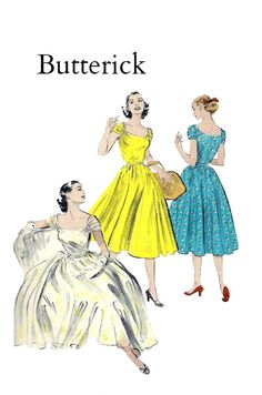 Vintage 1950s Butterick 6290 Misses Soft by PinkPolkaDotButton, $36.00