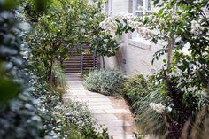 Coastal Gardens, Beach Gardens, Side Gardens, Garden Landscape Design, Garden Landscaping, Landscaping Ideas, Willow Garden, Garden Path, Little Gardens