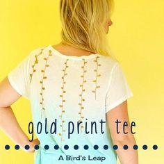 DIY Clothes DIY Refashion: DIY Gold Patterned Ombre Tee