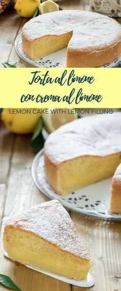 Torta al limone con crema al limone - Torta al limone soffice - Torta al limone morbida - Torta al limone Mulino bianco - Torta con crema al limone - Torta al limone ricetta - Lemon cake with lemon filling - Lemon cake recipe Dulcisss in forno by Leyla #cake #torta #limone #lemon