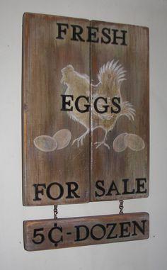 Handmade wooden sign