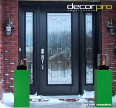 Vertikal Micro (Outdoor) | Decorpro Grand and glorious, these two tremendous towers glow vibrantly and warmly at a front entrance on a winter day. Front Entrances, Elegant Homes, Winter Time, Towers, Happy Holidays, Glow, Home And Garden, Indoor, Warm