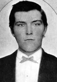 John Wesley Hardin (1853-1895)was a outlaw & gunfighter. He is believed to have killed a total of 44 men. He was shot to death in 1895 by John Selman Sr. in the Acme Saloon in El Paso, TX.