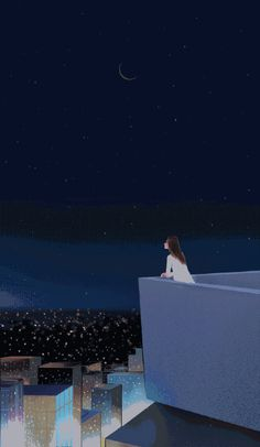 Staring at the stars one of the most amazing things Pastel Wallpaper, Cute Wallpaper Backgrounds, Galaxy Wallpaper, Cartoon Wallpaper, I Wallpaper, Cute Wallpapers, Art Anime Fille, Anime Art Girl, Aesthetic Anime