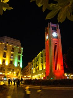 Clocktower Downtown Beirut...they took this completely down during one of their wars so it wouldn't get ruined but it is now back up :-)
