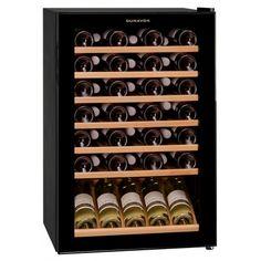 Racitor vinuri cu compresor DX-48.130K Racitorul de vinuri Dunavox DX-48.130K este singurul model Dunavox cu regulator de temperatura manuala. Shoe Rack, Display, Cabinet, Storage, Kitchen, Furniture, Home Decor, Model, Floor Space