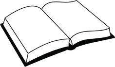 Vectores libres de derechos: Simple Open Book Clipart
