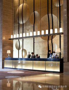 Modern Hotel Lobby Design - HBA+CCD酒店大堂吧台设计参考153...