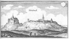 Waldeck, Hesse : Waldeck drawn in the copperplate of Mateus Maryan published in 1655