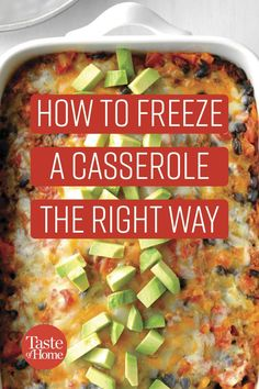 A casserole is the perfect make-first-eat-later dish. Get tips for how to freeze it for leftover perfection. Best Chicken Casserole, Casserole To Freeze, Healthy Casserole Recipes, Freezable Casseroles, Best Casseroles, Freezer Cooking, Cooking Tips, Frozen Meals, Pasta Dishes