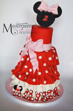 Minnie Mouse Dress Cake - So simple but ohh so cute!!