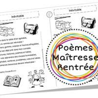 Poèmes pour la rentrée, sur l'école, les élèves et les maîtresses