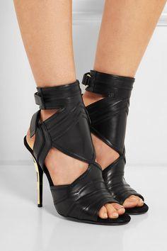 BALMAIN Kali cutout leather sandals $1,965