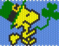 St Patricks Day Woodstock Cuff bead pattern