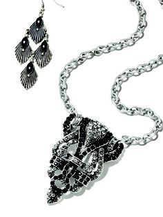 fall trend 2012: deco'd out    Art deco details are huge this fall—mark. will have you sparkling in this necklace an jewelry!