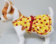 Dog Clothes Ladybug Dress, Chihuahua, Yorkie