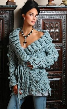 Crochet bobble cardi, BANDofTAILORS, Etsy