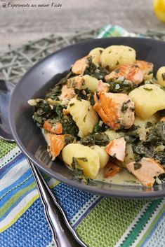 Gnocchi-Lachs-Pfanne mit Spinat | Rezept | Kochen | Essen | Weight Watchers